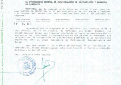 Registro Contratistas Mantenimientos