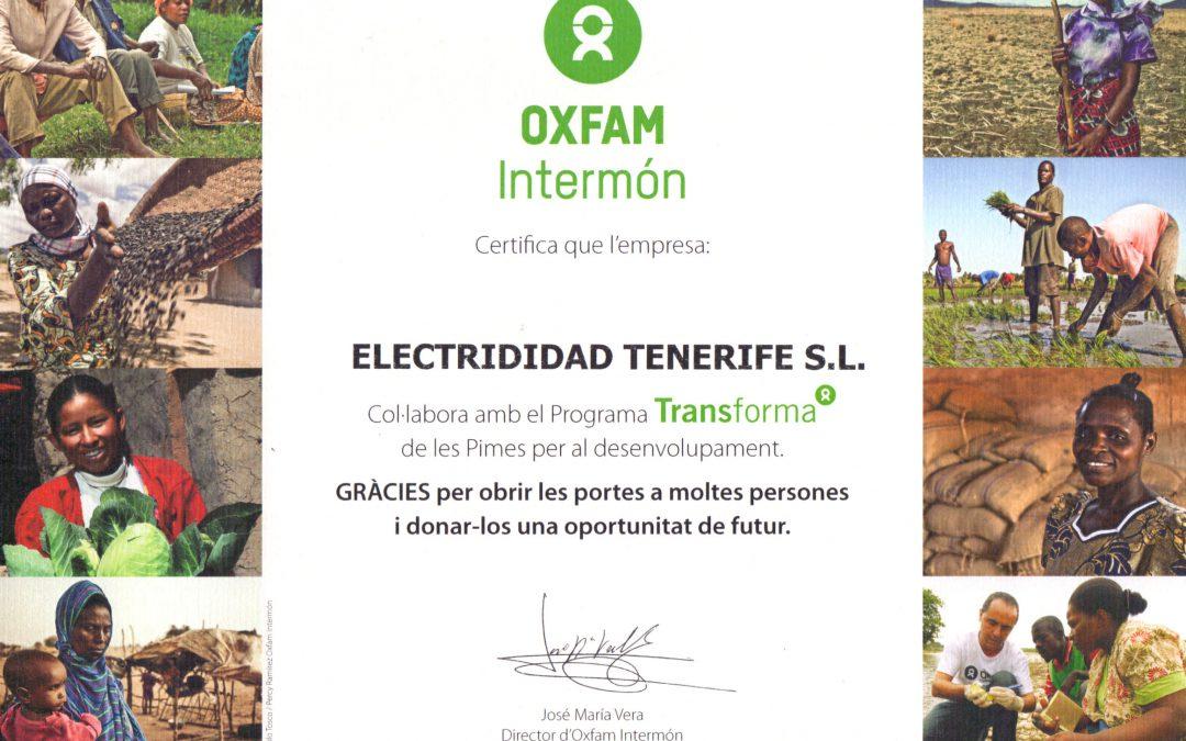 Colaboración con el programa «Transforma» de Intermon OXFAM