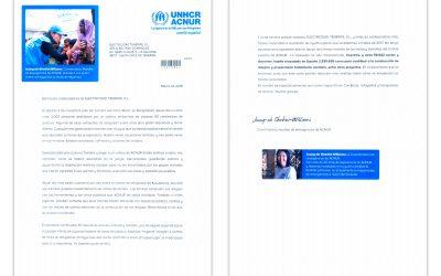 Carta de la Coordinadora Mundial de Emergencias de ACNUR