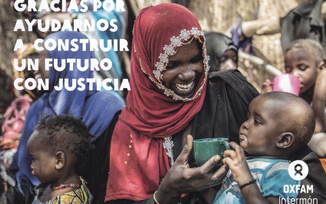 Ayudando a OXFAM Intermón a construir un futuro con justicia